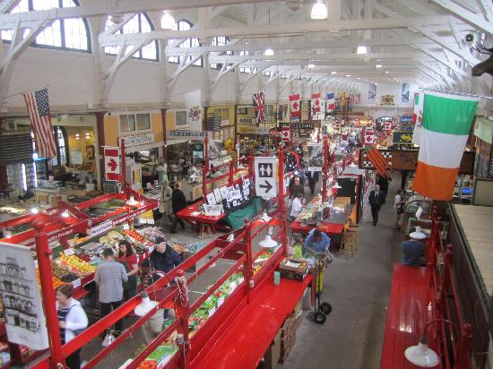 Saint John City Market: View of market from second floor