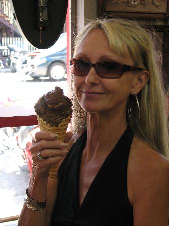 Old Fashioned Fudge: Cones are great for strolling!