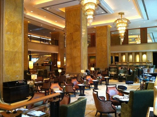 Lafite: lounge area at hotel lobby