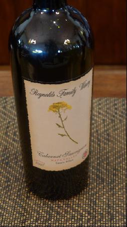 Reynolds Family Winery: Reynolds Cabernet