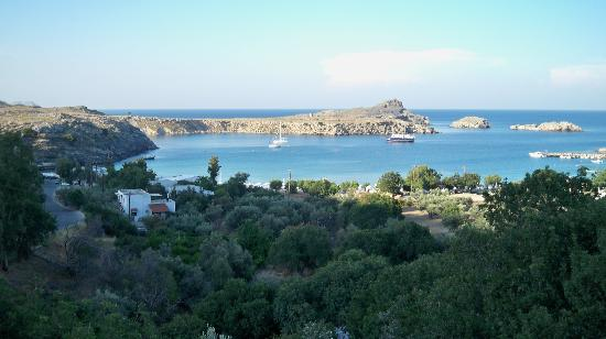 Villa Galini Lindos: View from the balcony