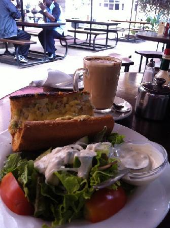 Java House: tuna cheese melt with chai latte! :-)