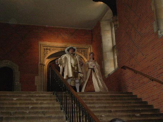 Hampton Court Palace: actors who played Henry and Anne