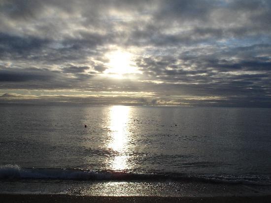 Seabreeze: my husband swimming 7 am
