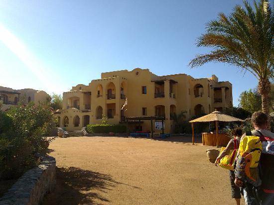 Three Corners Rihana Resort: Blick von Lagune auf das Hote