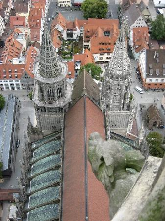 Ulmer Münster: Back of the church, view from the top
