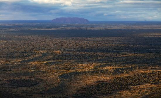 Ayers Rock Scenic Flights: Sunrise over the 'Rock'