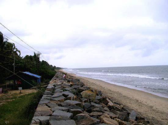 Cherai Beach- Blick suedlich vom CB Resort