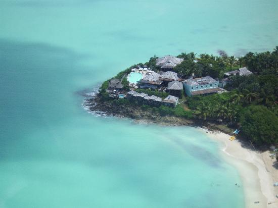 Cocobay Resort: view of resort from the air