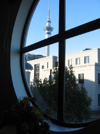 Latitude 37 Accommodation Ltd: view of sky tower from lounge