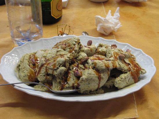 Villasalto, Italia: gelato al pistacchio