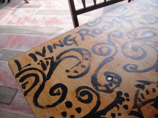 Living Room Cafe Bar & Gallery: her artwork! =)