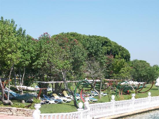 Letoonia Golf Resort: Sunbeds and hammocks