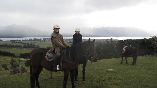 Westray Adventures - Horse Treks & Quad Tours: cold but loving it.