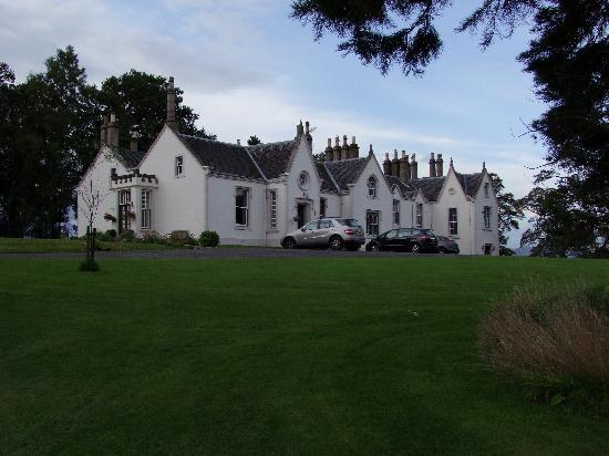 West Plean House: Photo a bit dark, but it shows you how impressive the house is