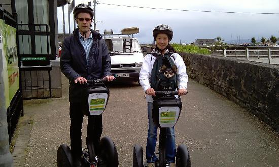 Segway Adventure Tours of Galway: Touring around Galway City on a Segway with puppet