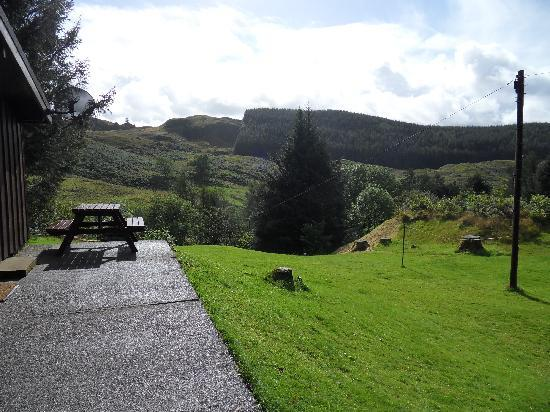 Lagnakeil Highland Lodges: View from the patio