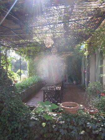 B&B la Bastide de Messine : Il patio della colazione
