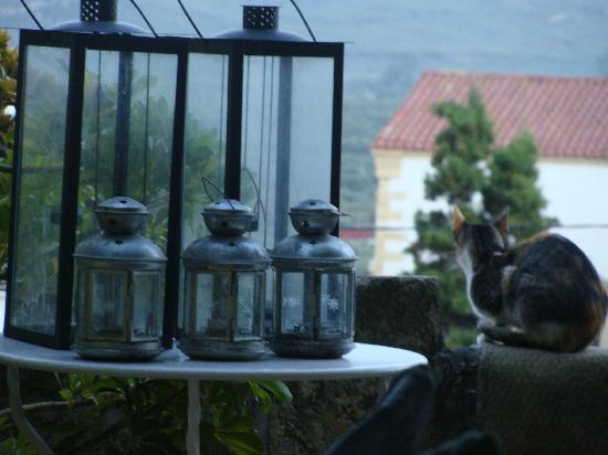 Villa Polichna : Terrace lamps