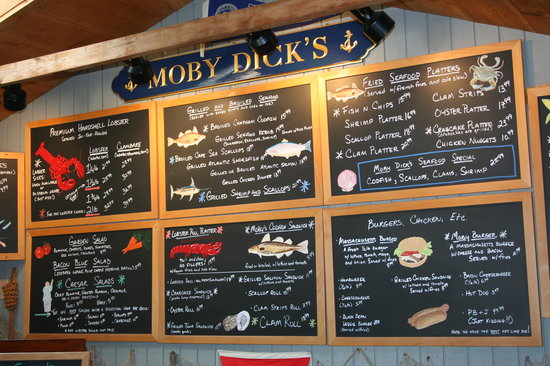 Moby Dick's: your menu board @ Moby's