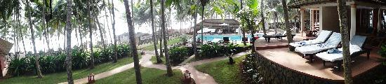 Coconut Bay Beach Resort: from left to right: sea, pool, villa