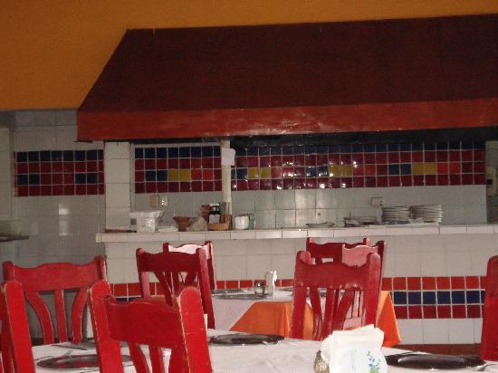 Parrilla Mission: Food prep area