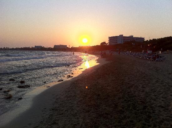 Atlantica Sungarden Beach: Sunset across the beach