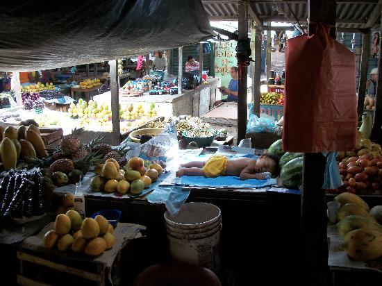 Mercado Bazurto: Let's see. Papayas, pineapples, mangos...How much for the baby?