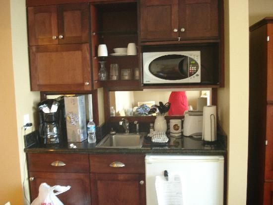 Ocean Beach Club: The mini-kitchen in the room.