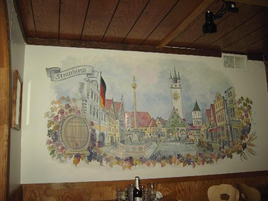 Andreas Keller Restaurant: Painting on the wall