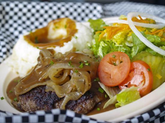 Rooster's: Hamburger steak Plate