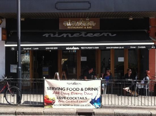 19 Streatham: nineteen restaurant & bar