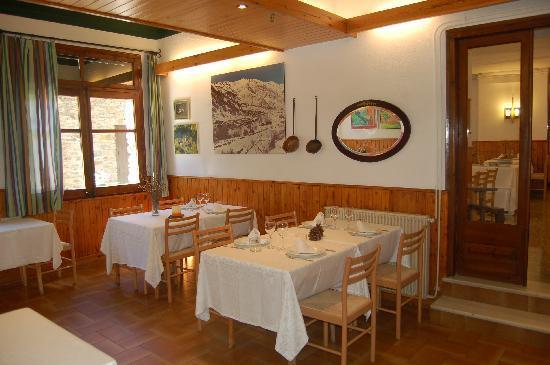 Hotel Vall Ferrera: El restaurante con una excelente gastronomía