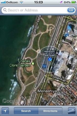 Dan Panorama Tel Aviv: on the google map