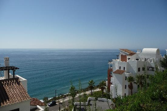 Olee Nerja Holiday Rentals: view from pool 2