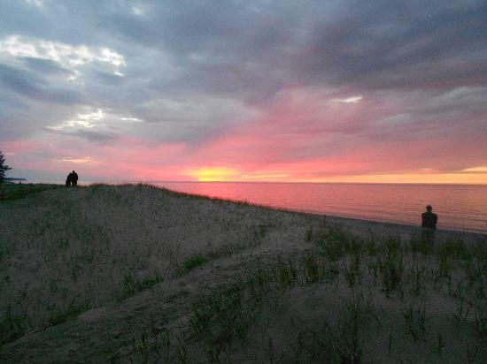 Lake Superior State Forest Campground: Lake superior sunset