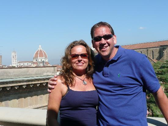 Plaza Lucchesi Hotel: On our balcony-sadly last day