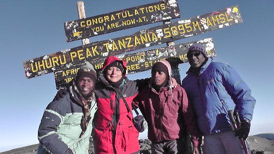 Mount Kilimanjaro: Reached Uhuru peak at 6.55 on 13 Sep