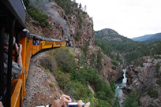 Durango and Silverton Narrow Gauge Railroad and Museum: Overlooking the Canyon