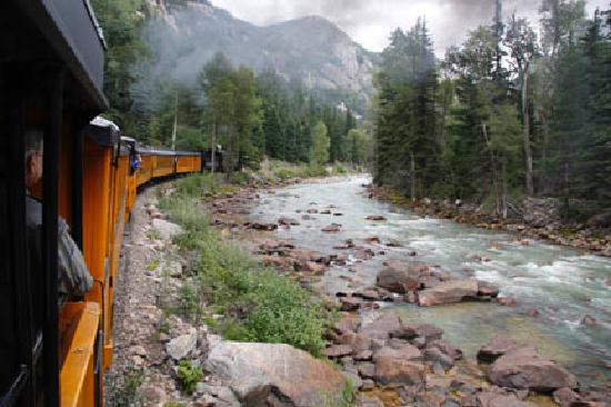 Durango and Silverton Narrow Gauge Railroad and Museum: View of the River
