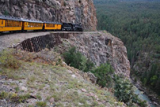 Durango and Silverton Narrow Gauge Railroad and Museum: View of the Cliffs