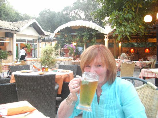 Nereids Restaurant & Bar: enjoying my mythos beer