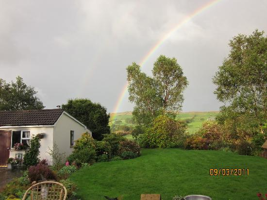 Moher House Bed and Breakfast: Rainbow over field behind Moher House B&B