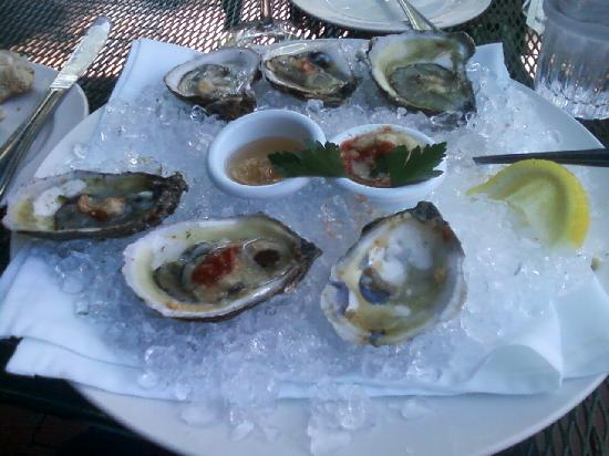 McCormick & Schmick's Seafood & Steaks: Oysters on the half shell--CT bluepoints, as I recall.