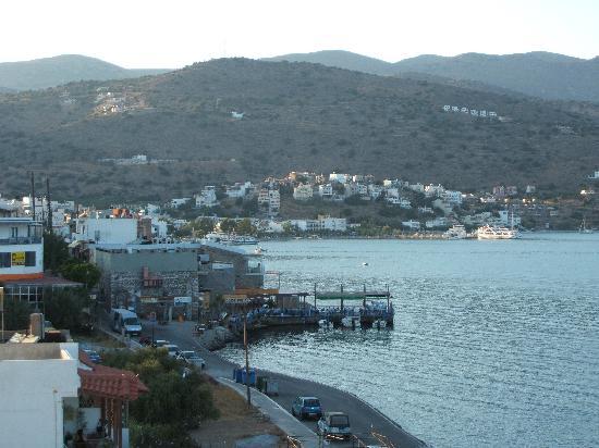 Akti Olous Hotel: View from Sky Bar towards centre