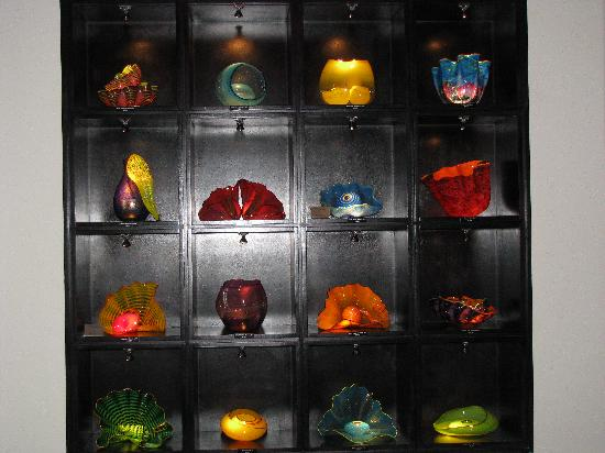 The Gallery at Aria: A display case of smaller works