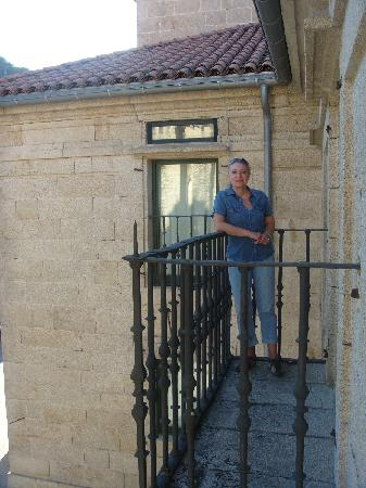 Parador de Santo Estevo: balcón de la habitación