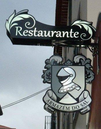 Armazem do Sal: Restaurant sign in alley