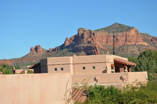 Las Posadas of Sedona: view from our 2nd floor entryway