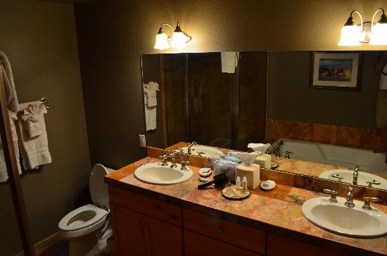 Las Posadas of Sedona: bathroom - the soaking tub is right next to the glass enclosed shower